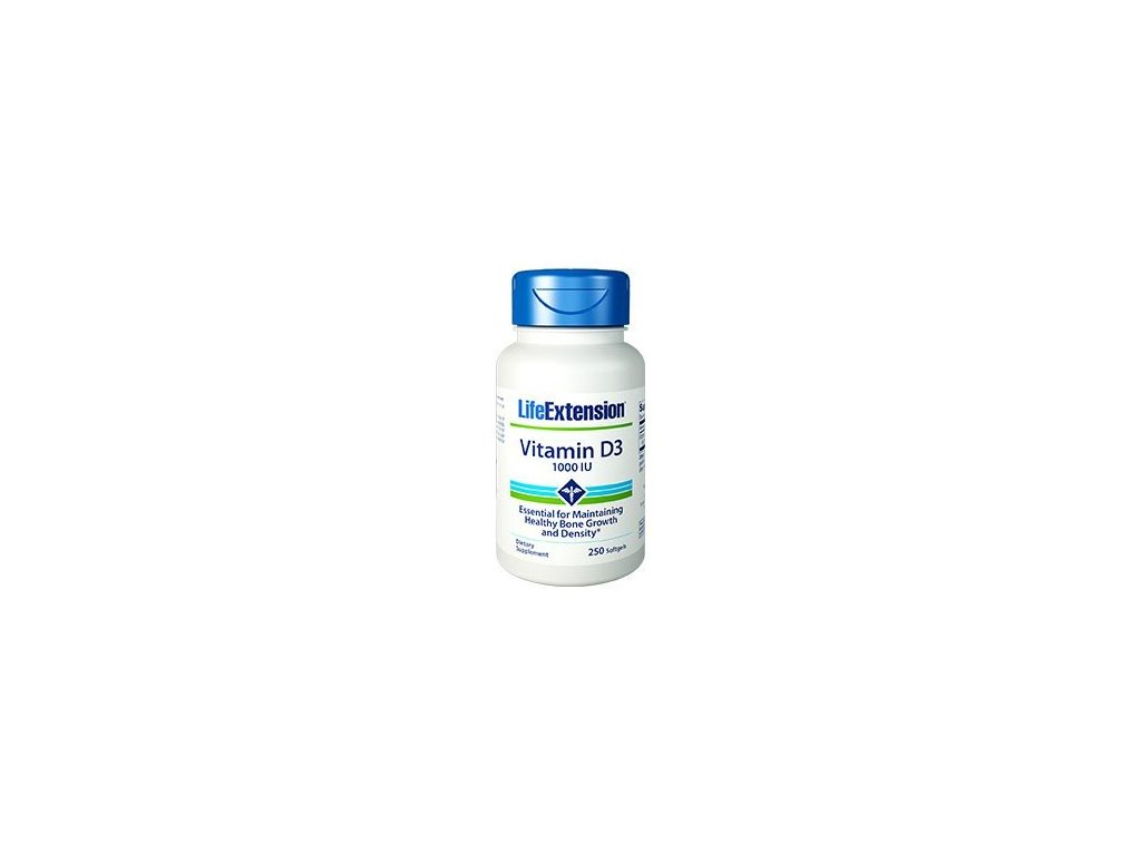Vitamin D3 1000 IU, 250 kapslí
