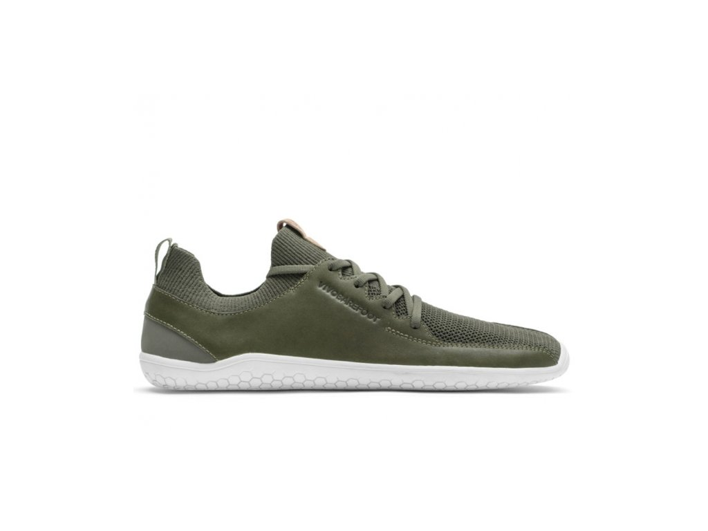 Vivobarefoot PRIMUS KNIT M Olive Green Leather
