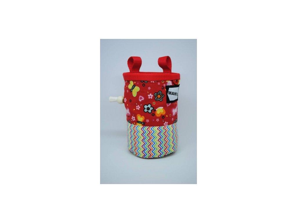 Pytlík na magnézium CHILD - červená, motýlci, barevný cikcak
