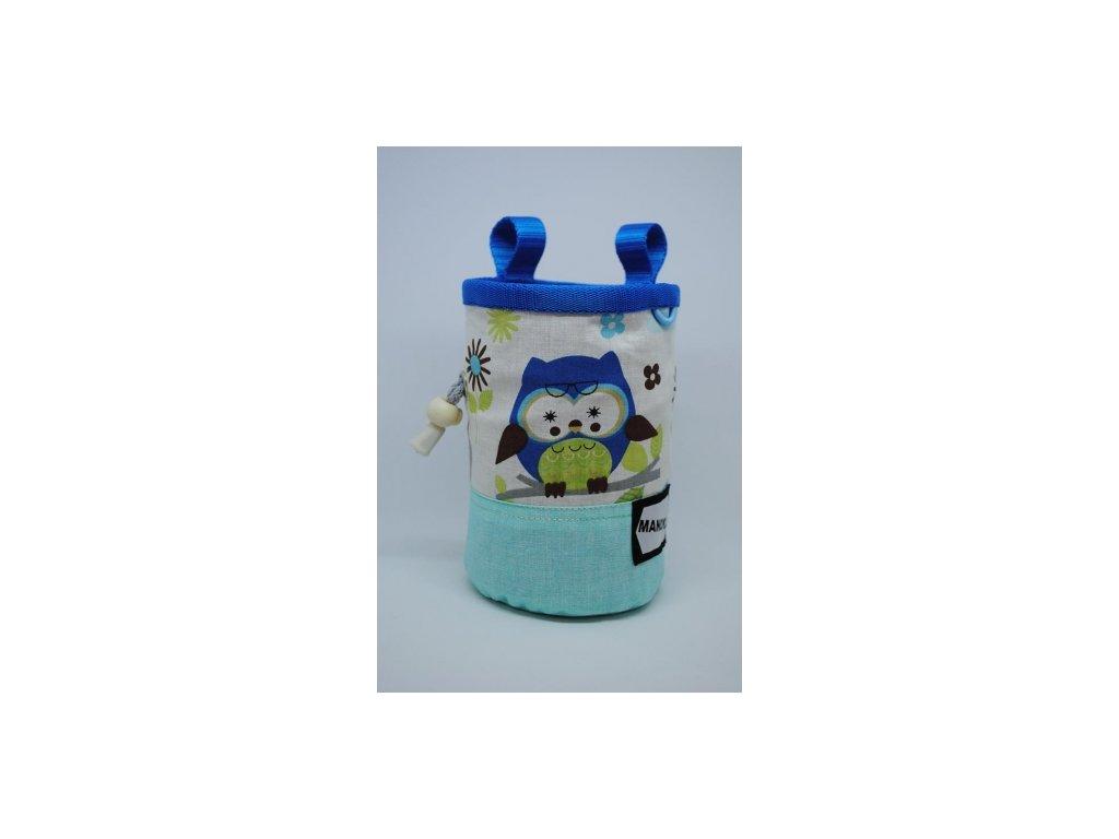 Pytlík na magnézium CHILD - sovičky modré