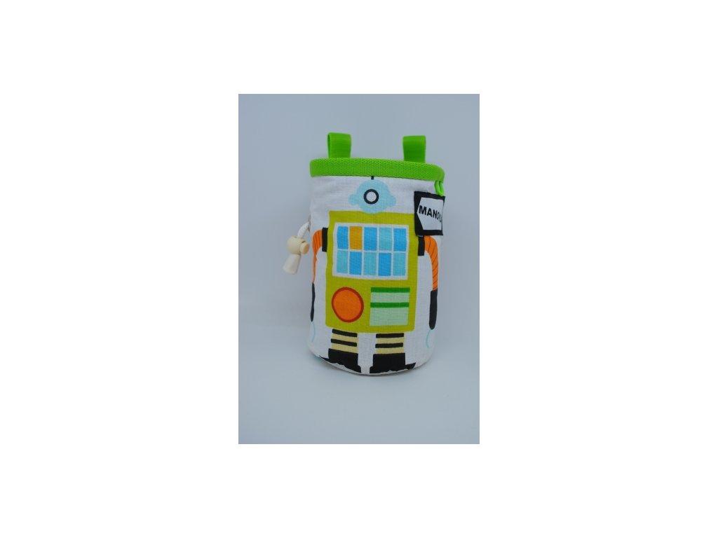 Pytlík na magnézium CHILD - zelené, robot