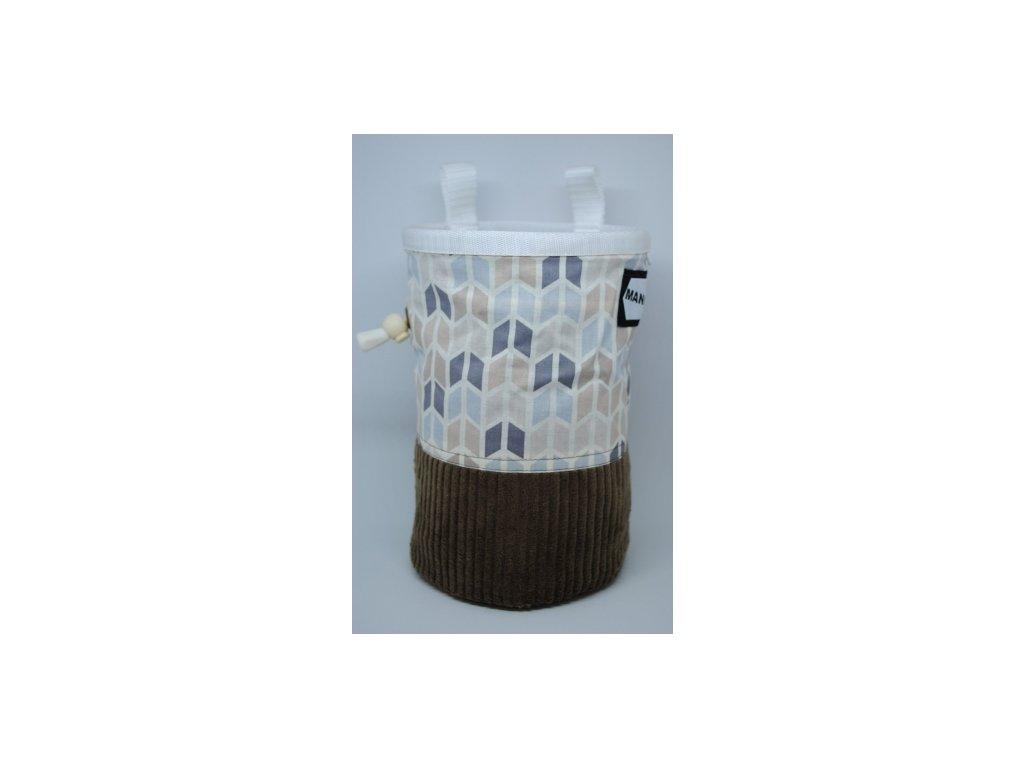Pytlík na magnézium CLASSIC - kosodélníky s manšestrovým spodkem