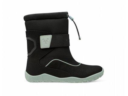 Vivobarefoot VIVO YETI K Black Aqua Grey