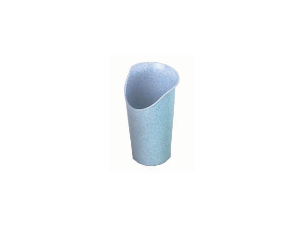 Hrnek ergonomický s výřezem na nos, modrý