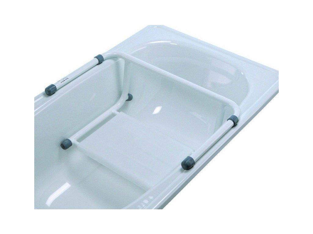 Sedačka do vany závěsná s pevnou šířkou, 60 cm, bílá