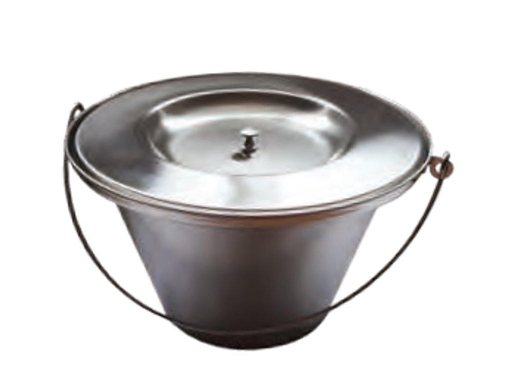 Toaletní nádoba s víkem - nerezová ocel