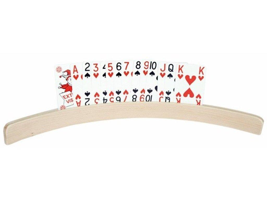 Stojánek na hrací karty dřevěný pro seniory, 35 / 50 cm