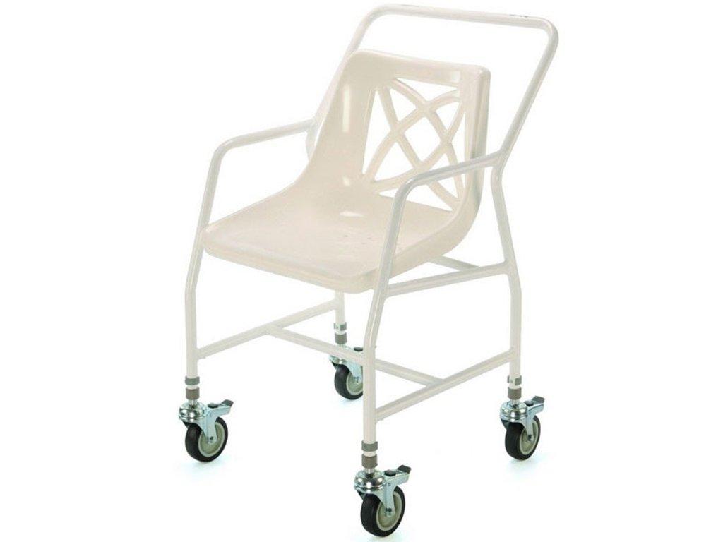 Židle do sprchy pojízdná s nastavitelnou výškou