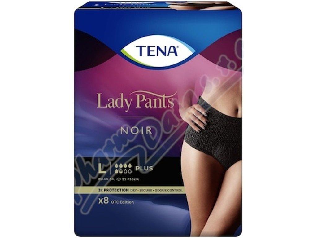 TENA Lady Pants Plus Noir - inkontinenční černé prádlo, (M)