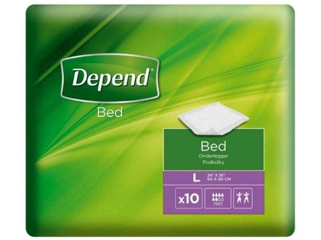 Depend Large - inkontinenční podložka na postel, 60x90 cm, 10 ks