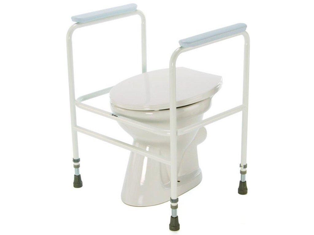 Podpěra na WC s madly přenosná, bílá - 4320 EX