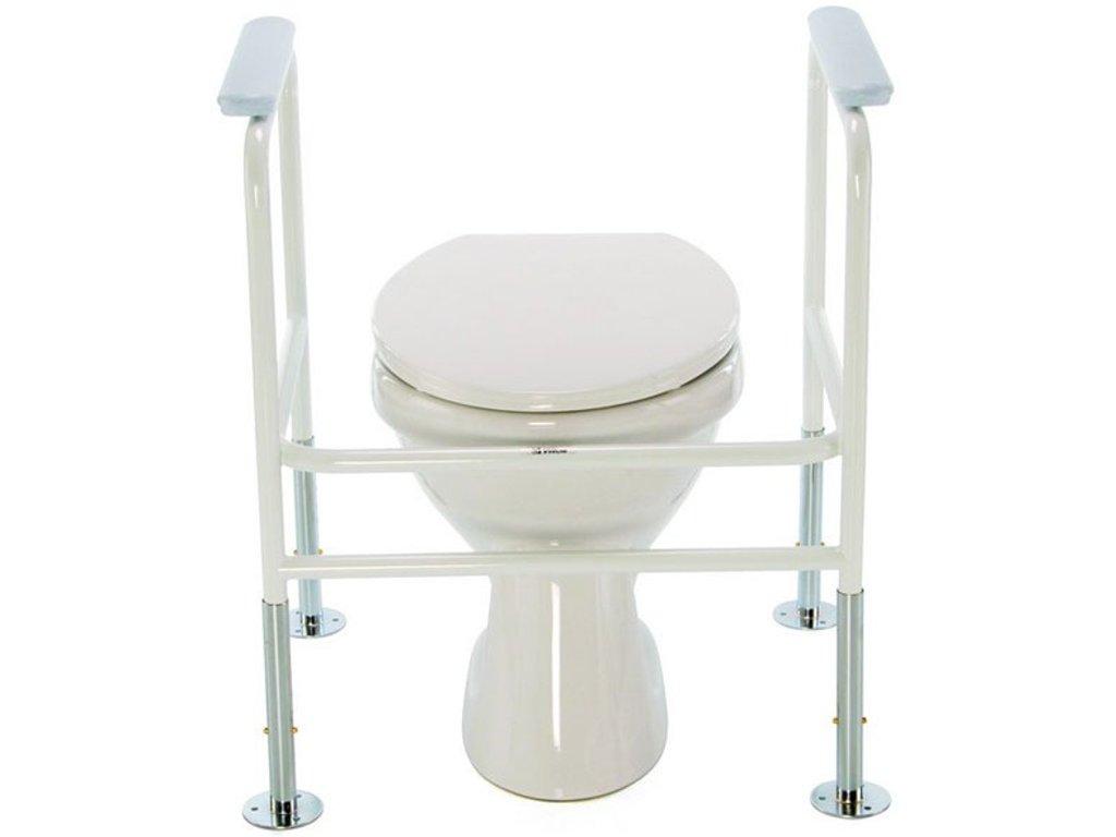 Podpěra na WC fixní zesílený rám -  bílá 4320 FEX