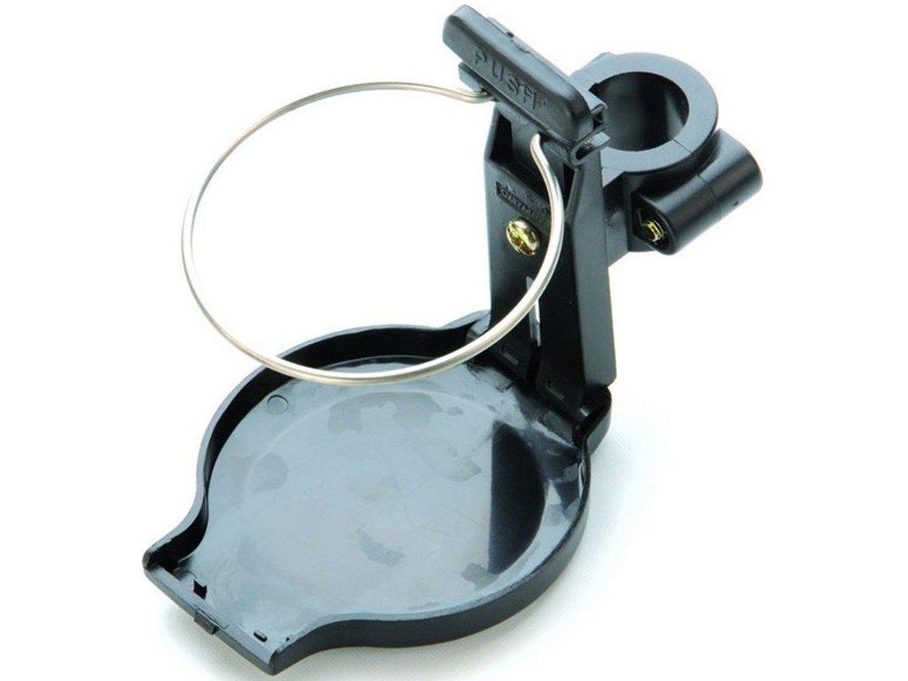 Držák nápojů pro upevnění na vozík, sklopný