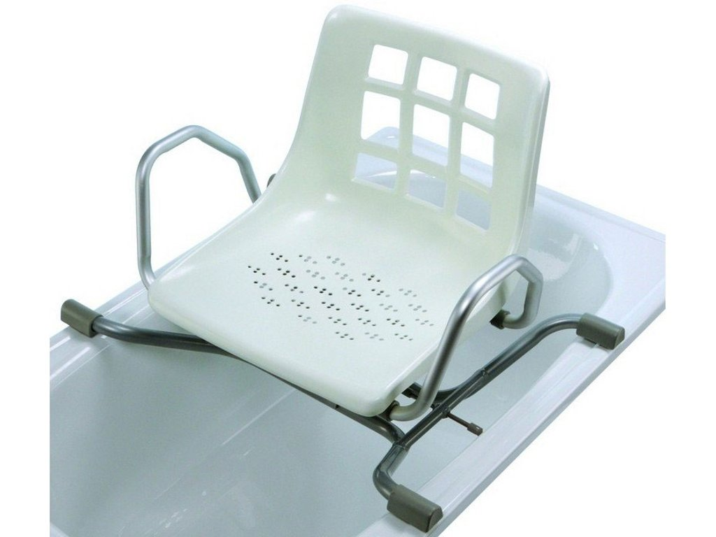 Otočná sedačka do vany závěsná bez výřezu