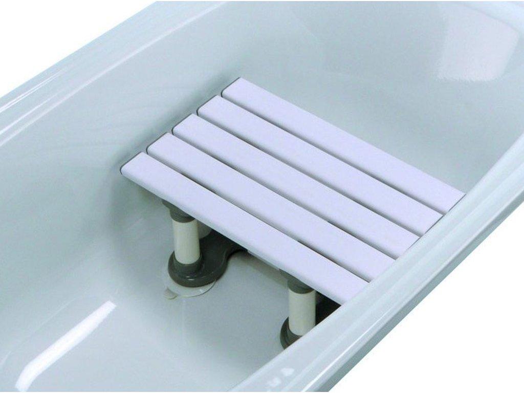 Plastová sedačka do vany s přísavkami, různé výšky