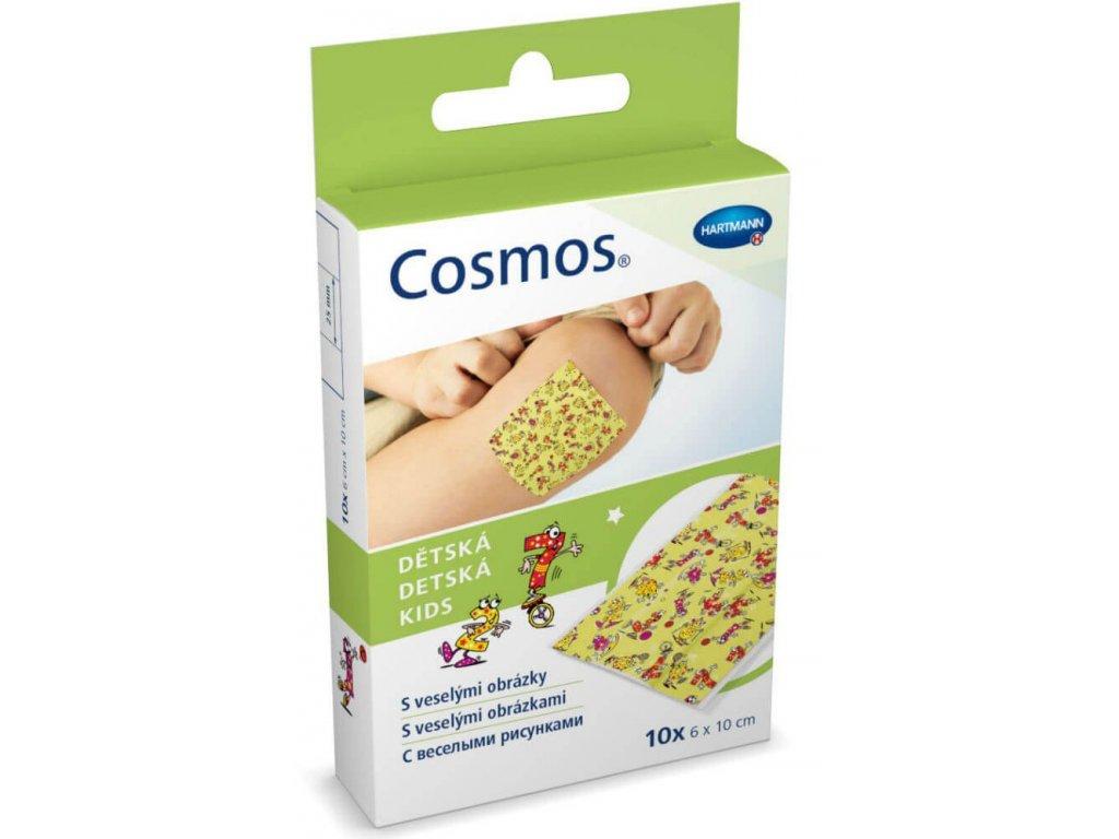 Cosmos - voděodolná dětská náplast, nedělená, 6 cm x 1 cm, 10 ks