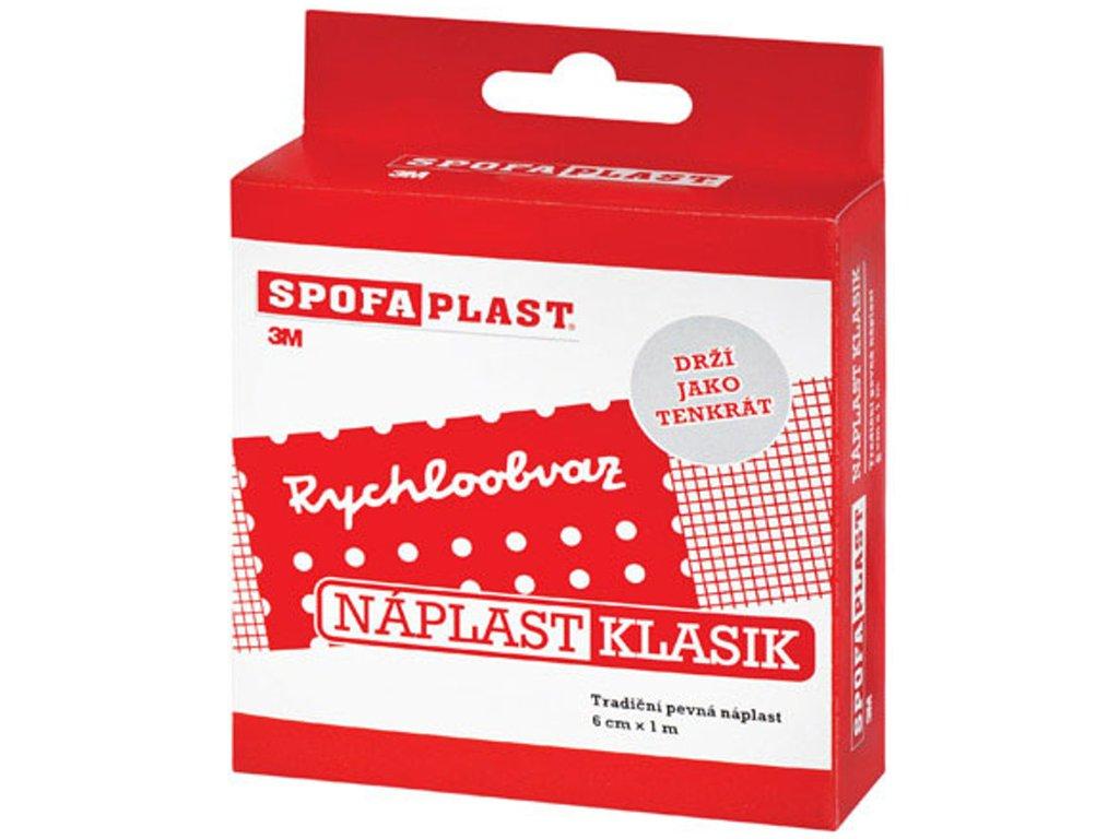 SpofaPlast Klasik - nedělená textilní náplast, 8 cm x 1 m