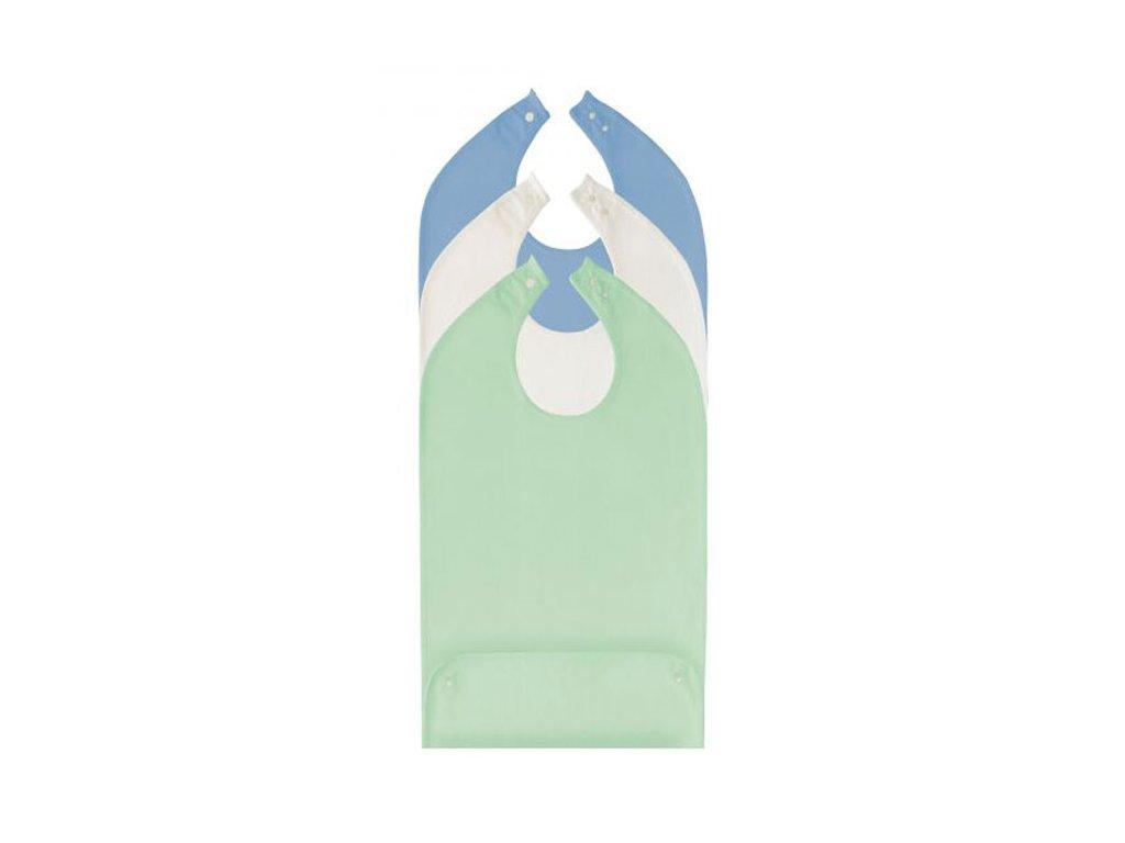 Bryndák pro dospělé se zapínáním na druk s kapsou, bavlna/polyester, 45 x 90 cm