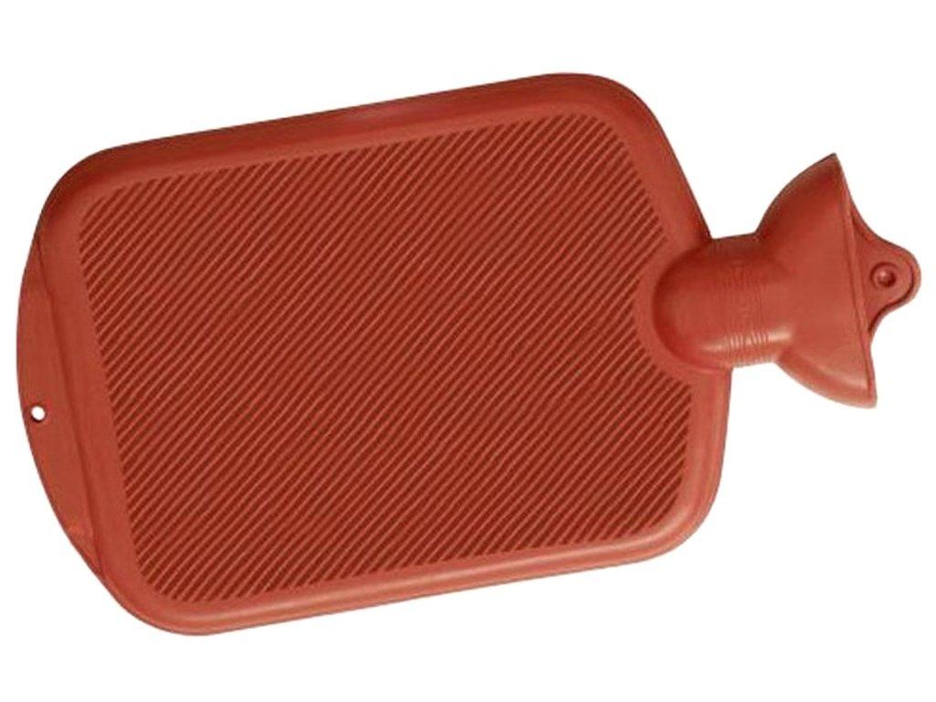 Termofor - ohřívací gumová lahev, jednostranně vroubkovaná, 2 l, různé barvy