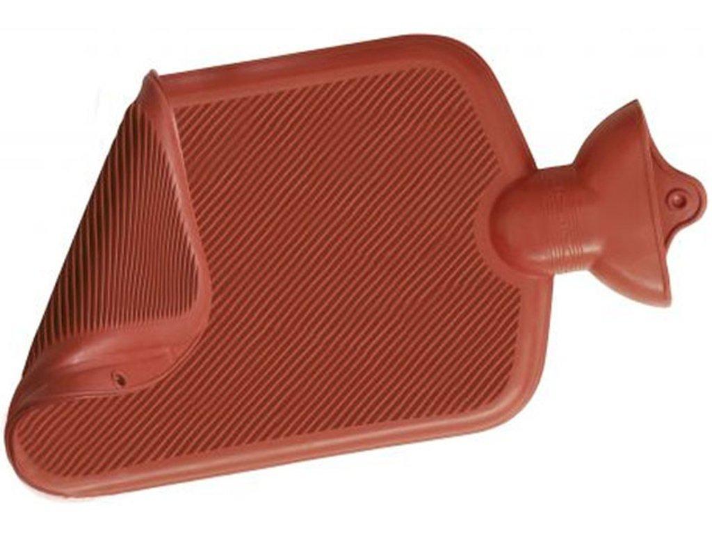 Termofor - zahřívací gumová lahev, oboustranně vroubkovaná, 2 l, různé barvy