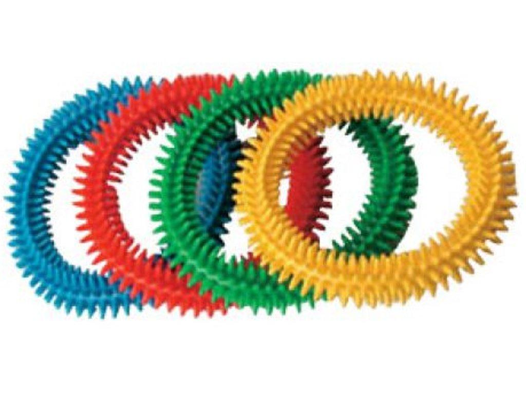 Masážní gumový kroužek s měkkými ostny, průměr 17 cm