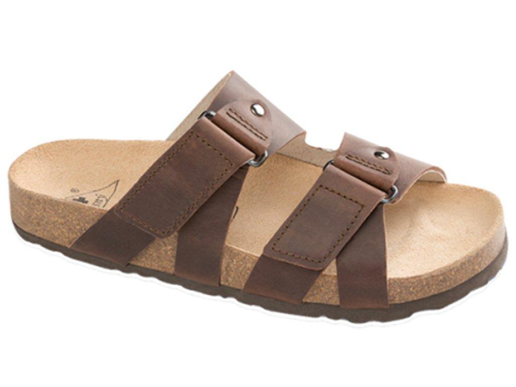 Ravenna - zdravotní pantofle, tmavě hnědá, různé velikosti
