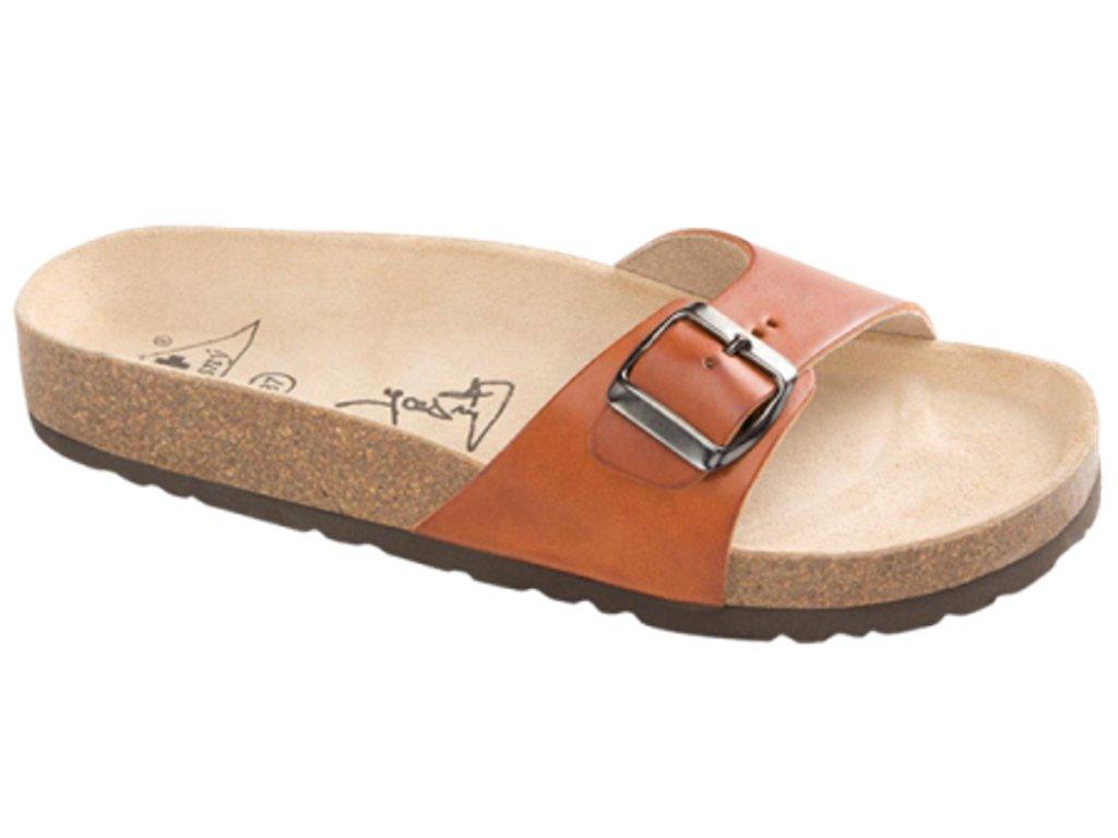 Verona - zdravotní pantofle, koňak, různé velikosti