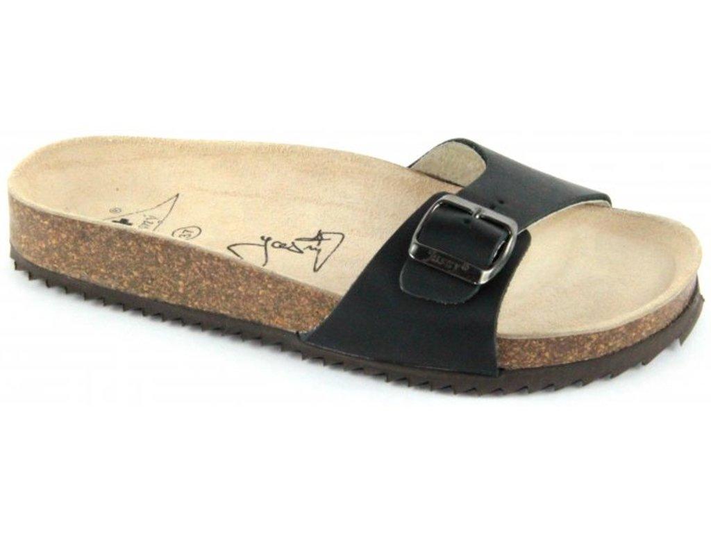 Verona - zdravotní pantofle, černá, různé velikosti