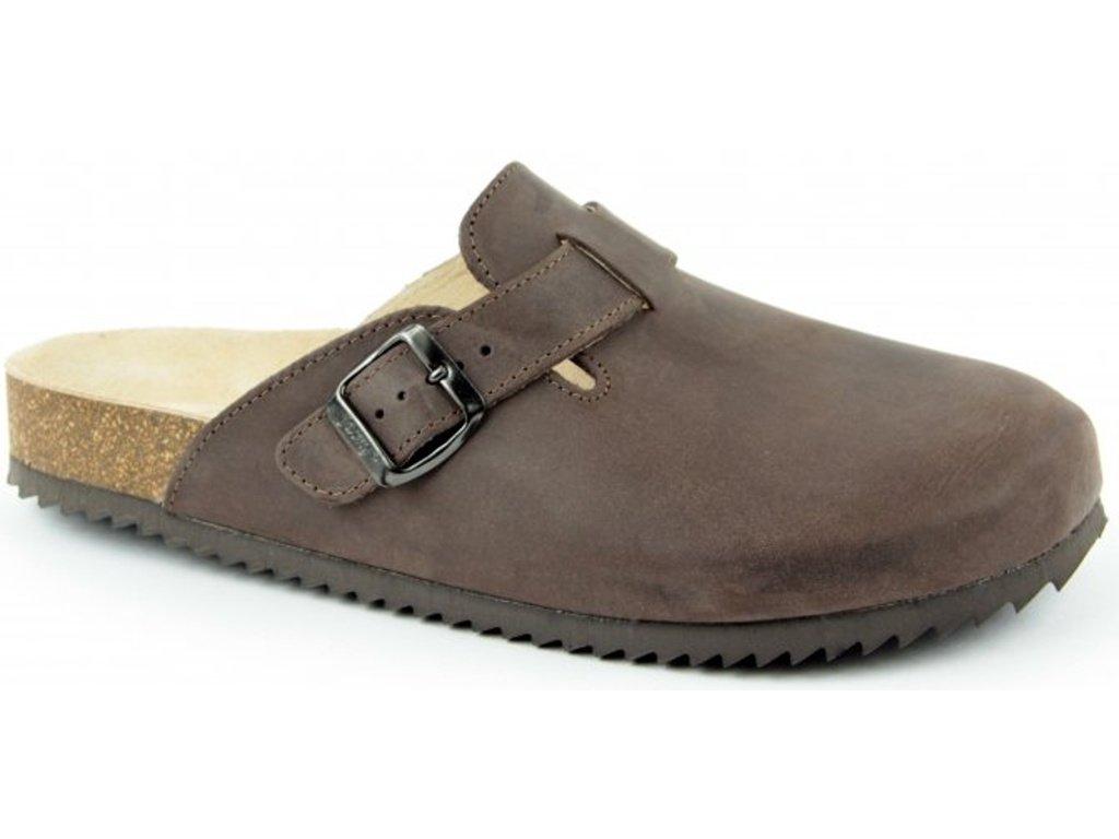 Trento - zdravotní pantofle, tmavě hnědá, různé velikosti
