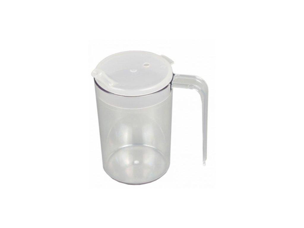 Plastový pohár s velkou rukojetí a 2 víčky, 250ml - DOPRODEJ