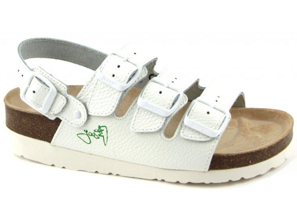 CLASSIC - sandály na klínku, bílá, různé velikosti