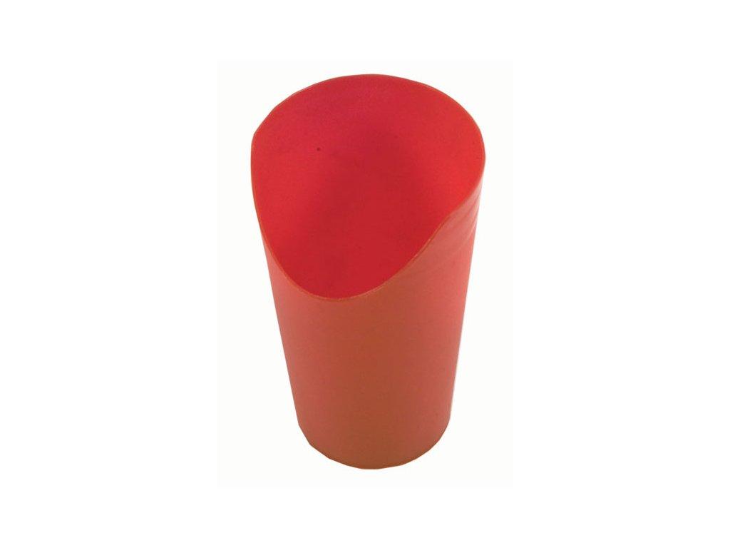 Pohárek s výřezem pro nos, červený