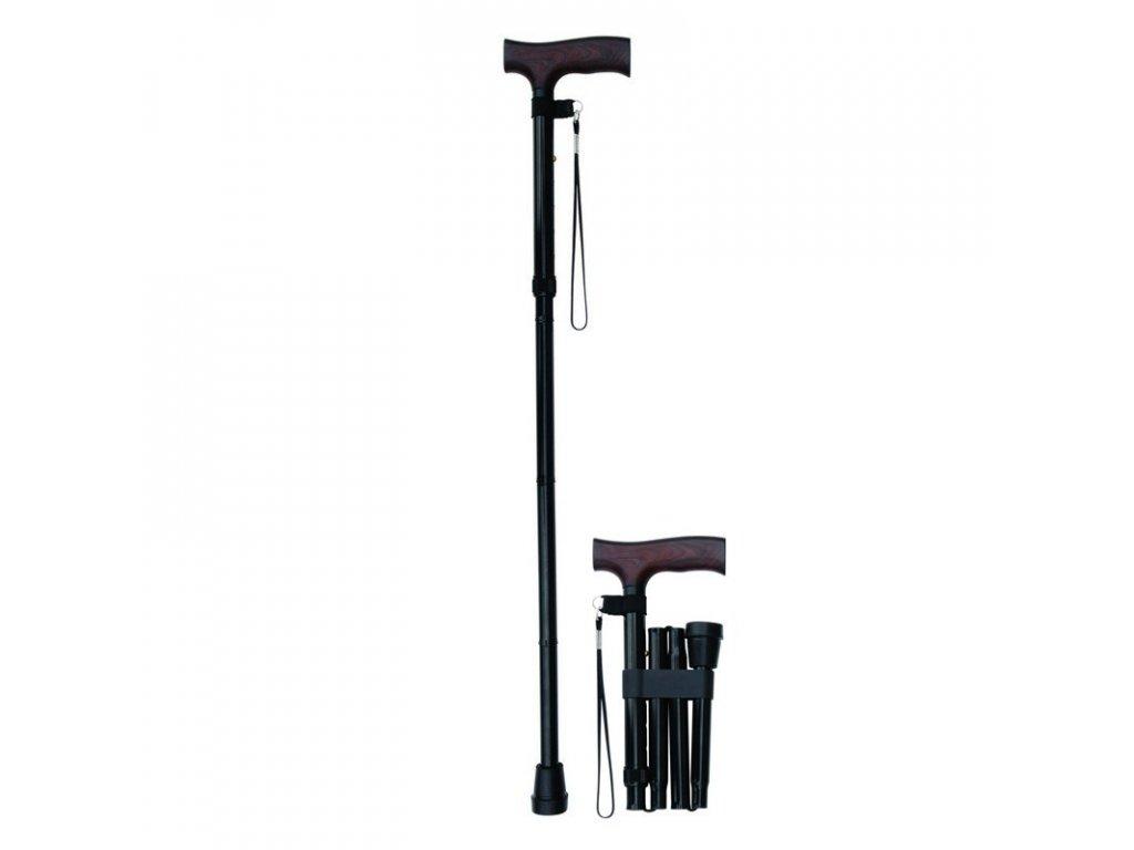 Skládací podpůrná hůl, vysoká, 90 - 100 cm, různé barvy