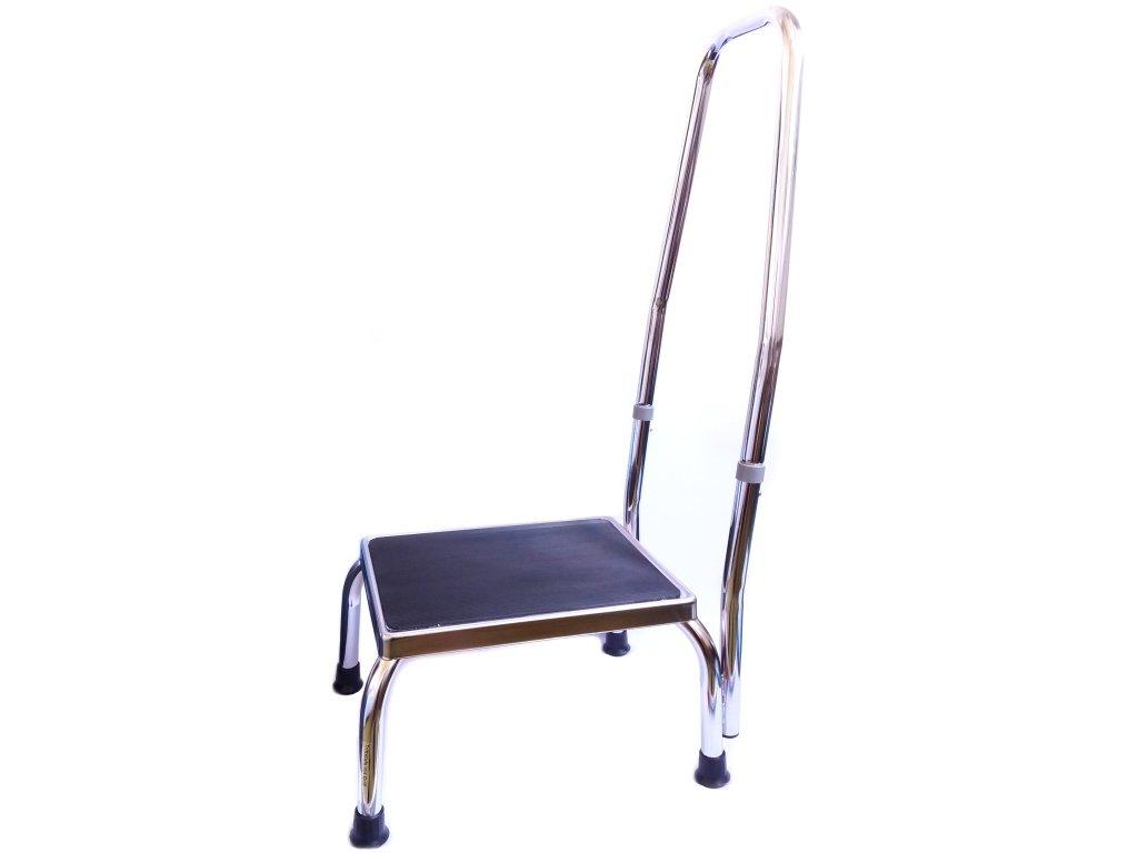 Stolička k vaně pro seniory s přídavným madlem 87 cm