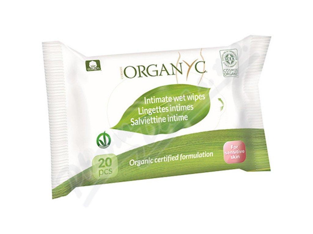 Organyc vlhčené ubrousky pro intimní hygienu