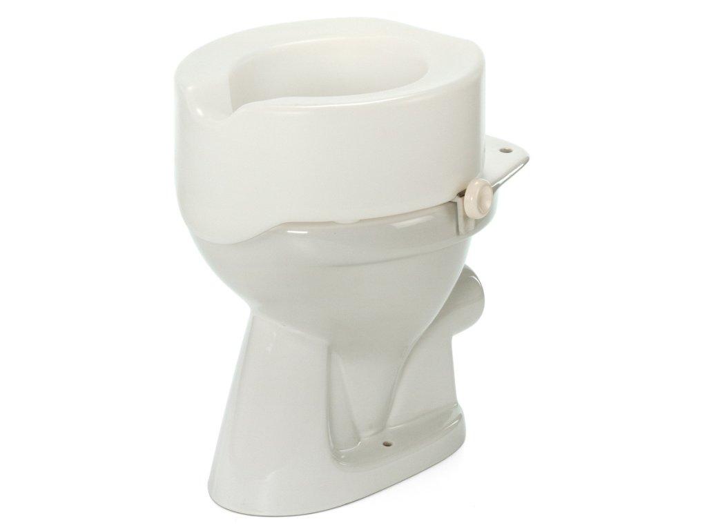 Nástavec na WC plastový s fixačními šrouby, výška 15 cm