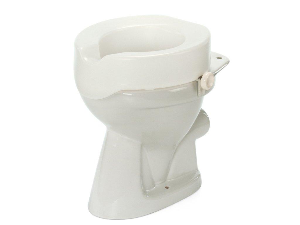 Nástavec na WC plastový s fixačními šrouby, výška 10 cm