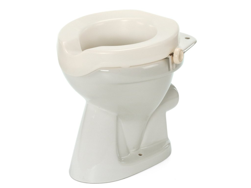 Nástavec na WC plastový s fixačními šrouby, výška 5 cm