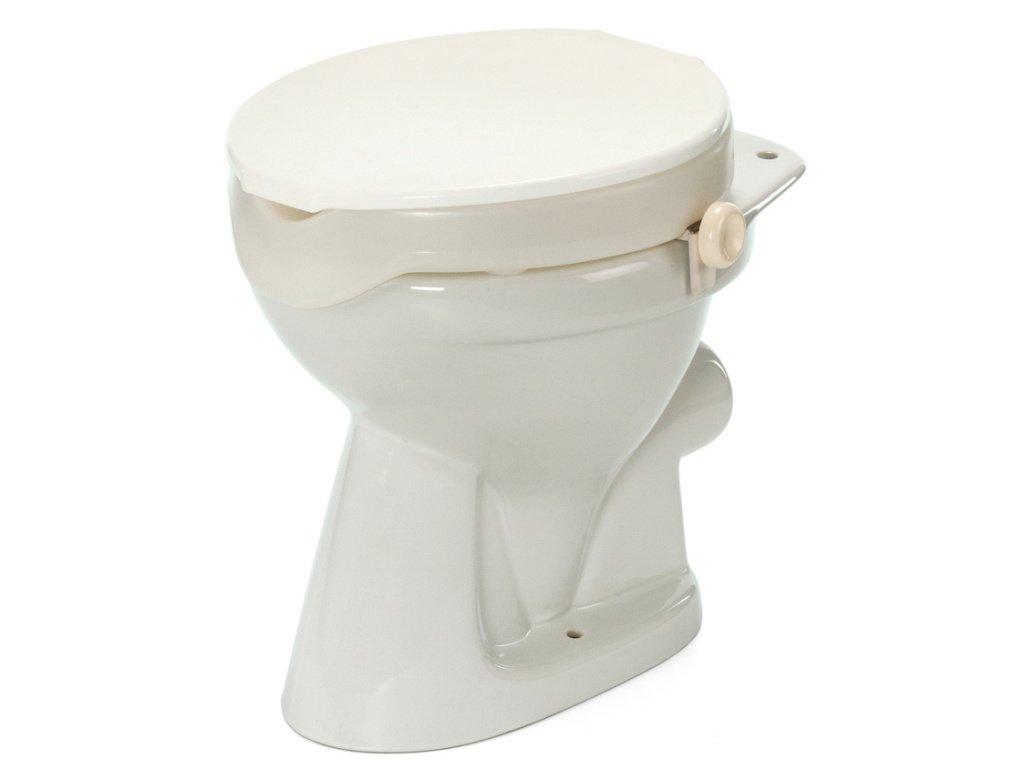 Nástavec na WC plastový s poklopem a fix. šrouby, výška 5 cm