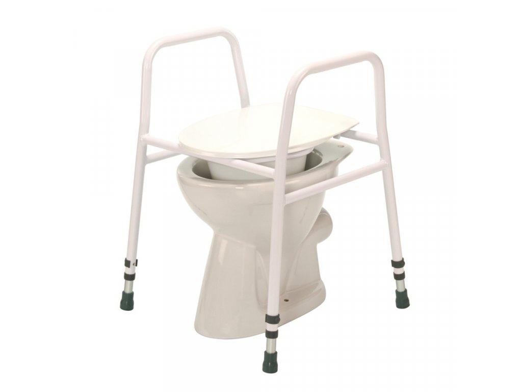 Nástavec na WC přenosný s madly, výška 69-85 cm
