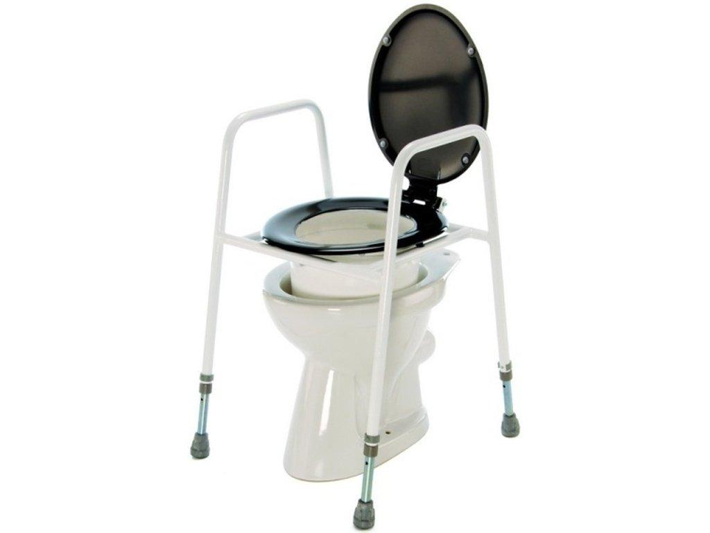 Nástavec na WC přenosný s poklopem a madly