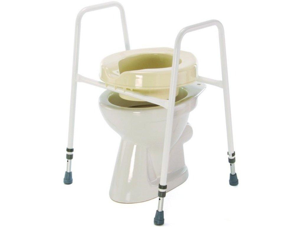Nástavec na WC přenosný s madly, 68-83 cm
