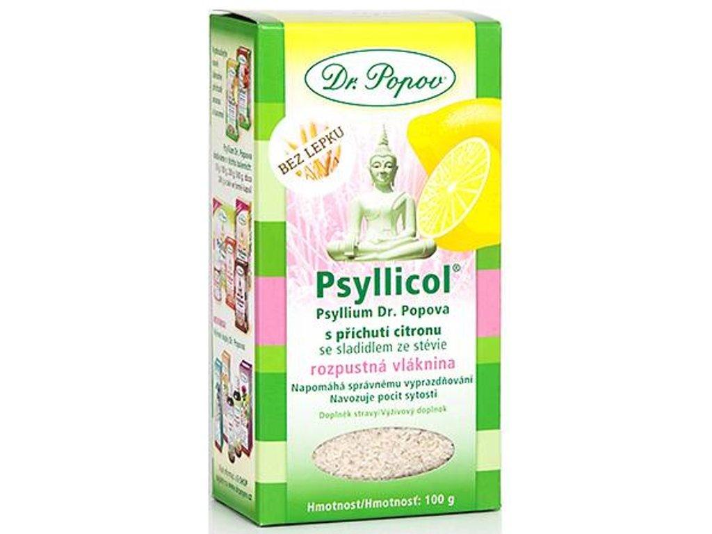 Dr. Popov - Psyllicol® s příchutí citronu, 100 g - DOPRODEJ