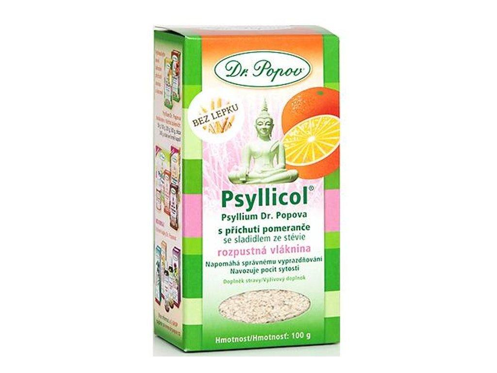 Dr. Popov - Psyllicol® s příchutí pomeranče, 100 g