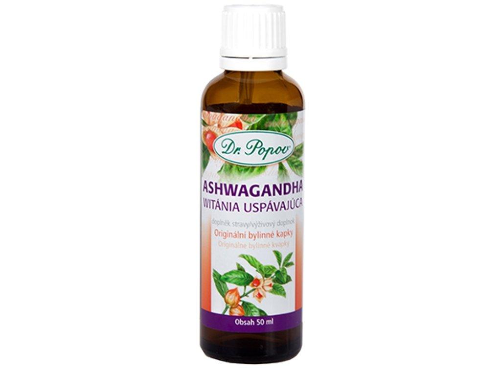 Dr. Popov - Ashwagandha (Vitánie snodárná), originální bylinné kapky, 50 ml