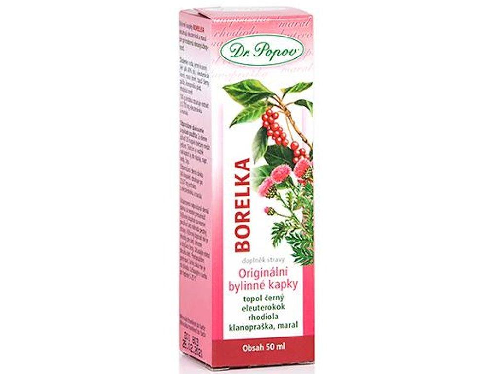 Dr. Popov - Borelka, originální bylinné kapky, 50 ml