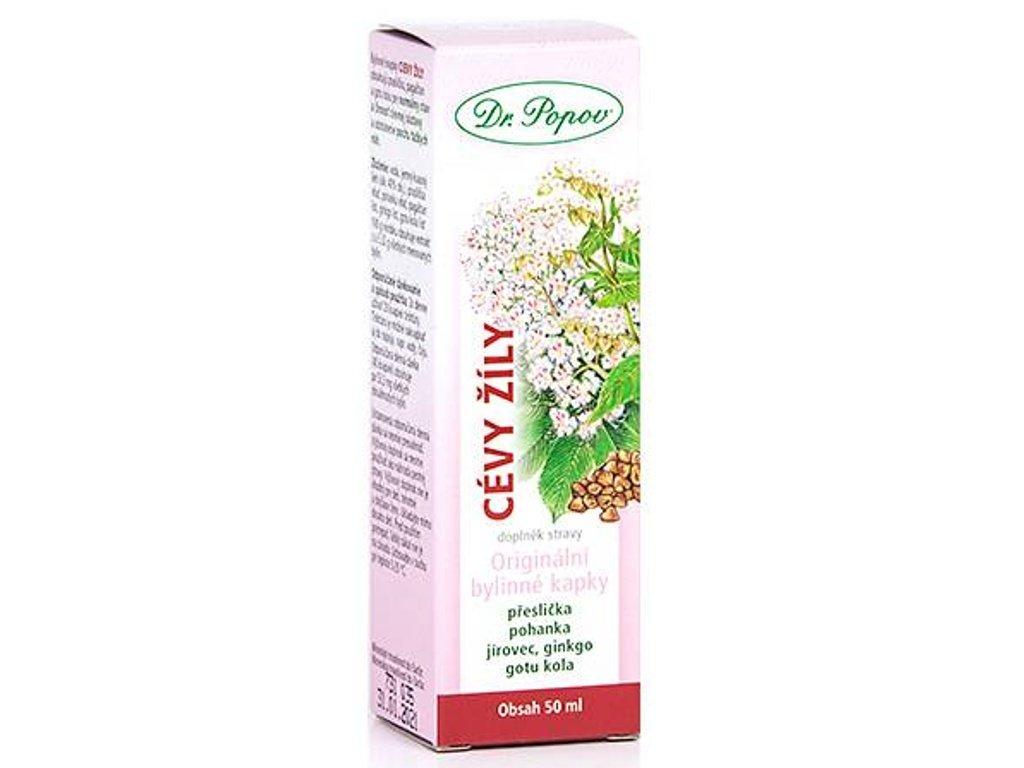 Dr. Popov - Cévy – žíly, originální bylinné kapky, 50 ml
