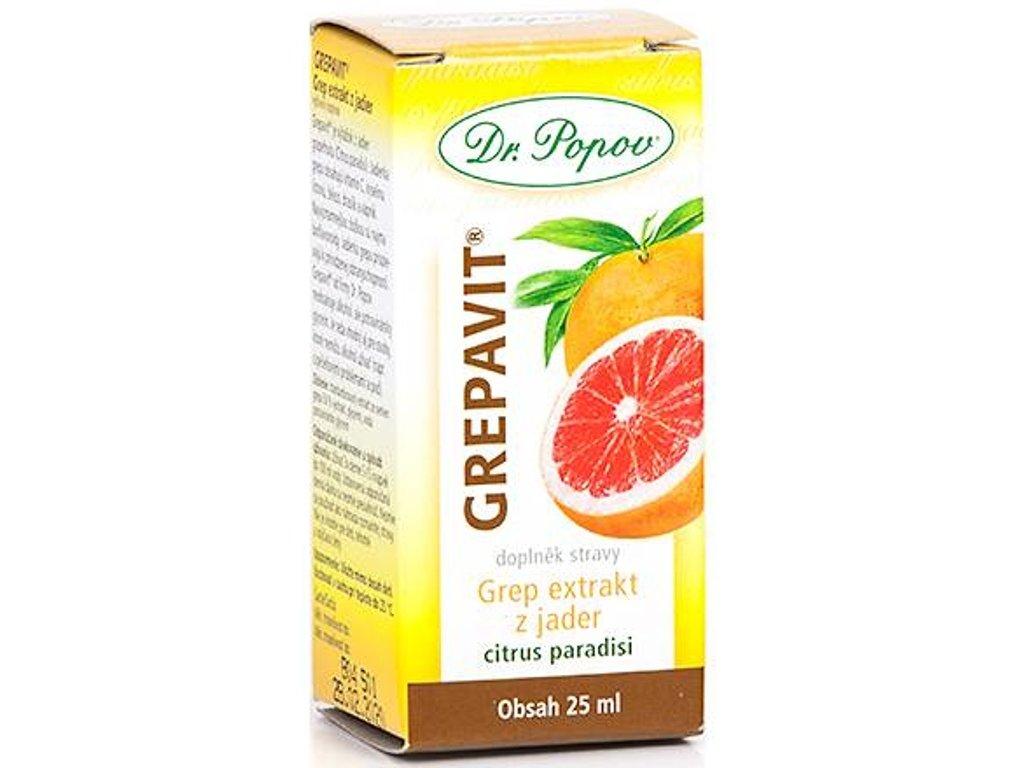 Dr. Popov - GREPAVIT® – grep extrakt z jader (obsah 25ml, 50ml, 100ml)