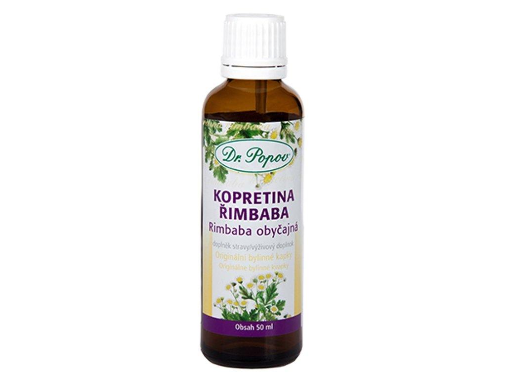 Dr. Popov - Kopretina řimbaba (Řimbaba obecná), originální bylinné kapky, 50 ml