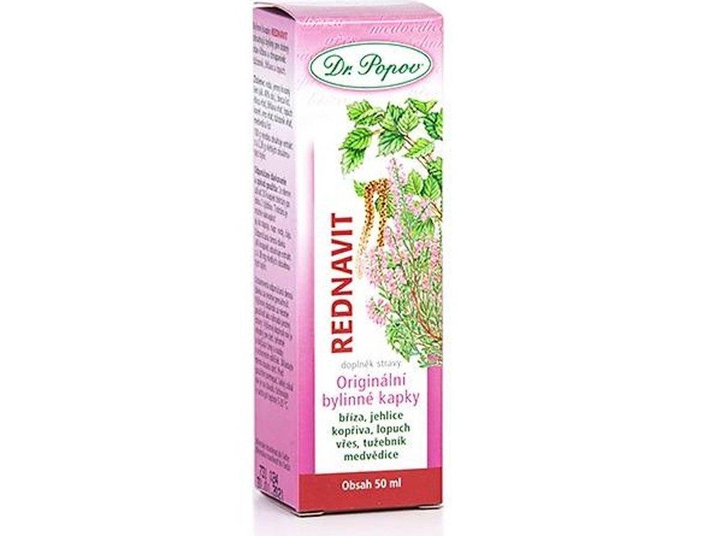 Dr. Popov - Rednavit, originální bylinné kapky, 50 ml